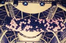 Balónový dážď zo siete
